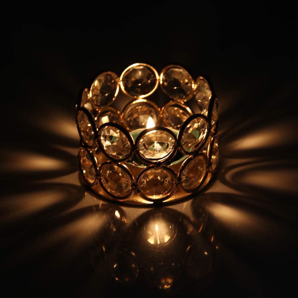 VINCIGANT Bougeoir Cristal Argent Mini Supports pour Bougie Chauffe-Plat 12pcs Set Decoration de Centre de Table,Appropri/é pour Bougie Chauffe-Plat Standard Bougeoir Mariage