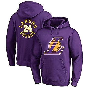 Hanbao Sudadera con Capucha De Baloncesto NBA Lakers 24# Kobe Bryant Ropa Deportiva De Baloncesto Sudadera Suelta Moda Adolescente Camiseta