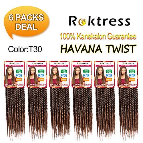 Roktress Havana Mambo Twist Crochet Hair Braids Kanekalon Senegalese Twist Braiding Hair (12