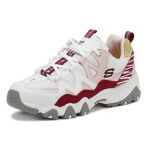 6408088122375 Skechers One Piece D Lites 2 Mujer Blanco Rosa Zapatillas  Amazon.es   Zapatos y complementos