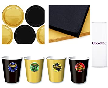 Cocou0026Bo - Hogwarts Houses - Starter Tableware Party Pack for 4 - Gryffindor Slytherin  sc 1 st  Amazon UK & Cocou0026Bo - Hogwarts Houses - Starter Tableware Party Pack for 4 ...