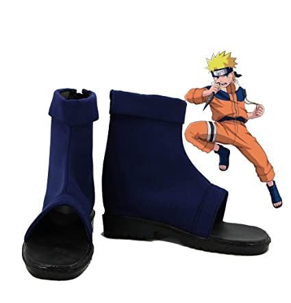 ff871127bffd6 Amazon.com: Telacos Naruto Anime Uzumaki Naruto Ninja Cosplay Shoes ...