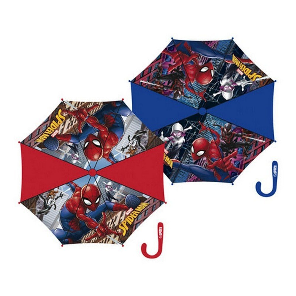 Arditex Spiderman en Polyester - 2 Assortis - 11569 - Parapluie Canne, 70 cm, Bleu ou Rouge SM11569