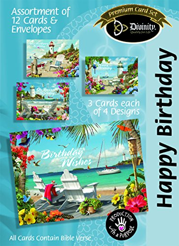 Divinity Boutique Greeting Card Assortment: Theme to Be Decided A.Giana, Coastal Adirondack Chairs (22373N) -