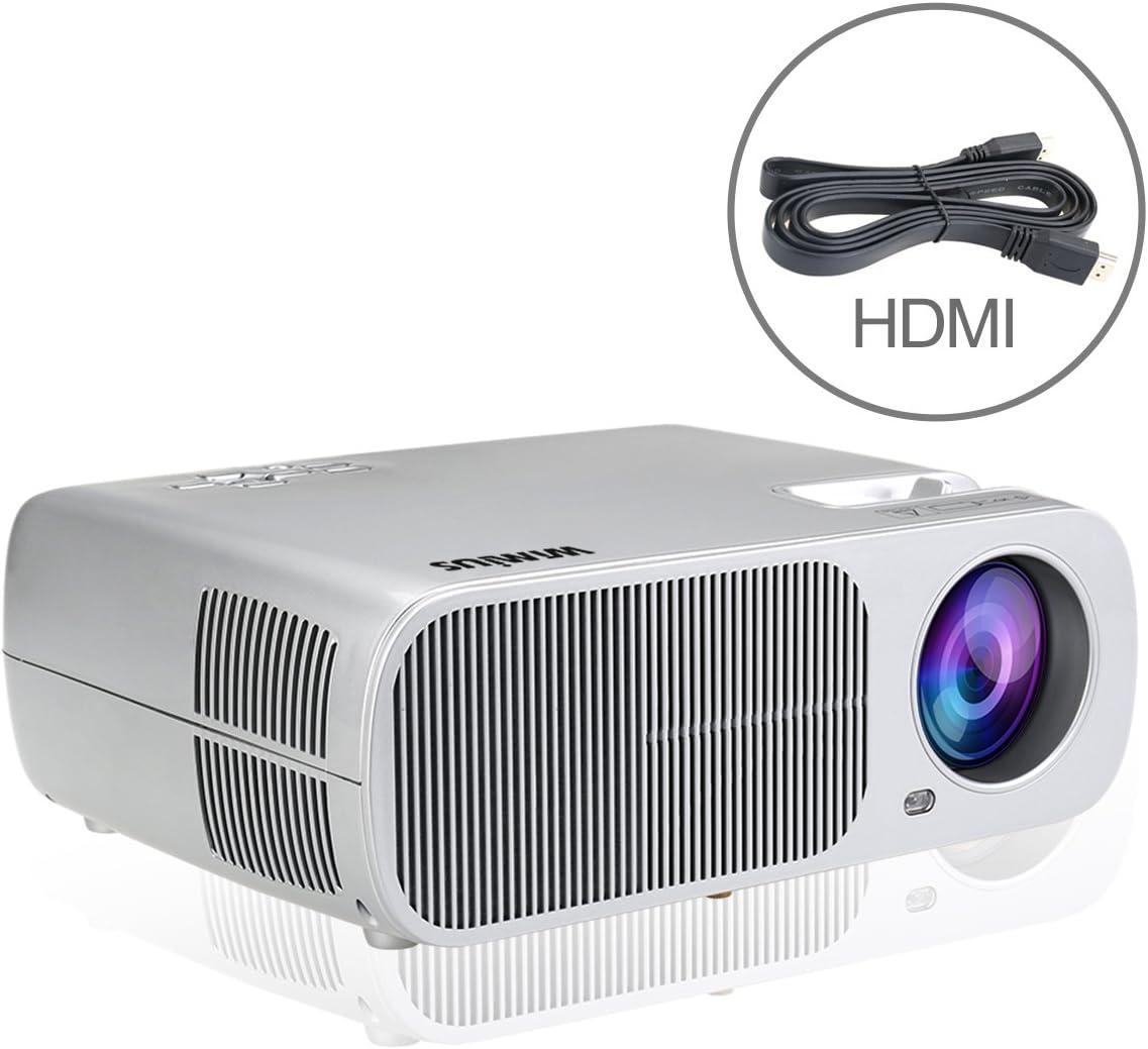 Proyector,WiMiUS T1 Proyectores LED Portátil Foco Ajustable la ...