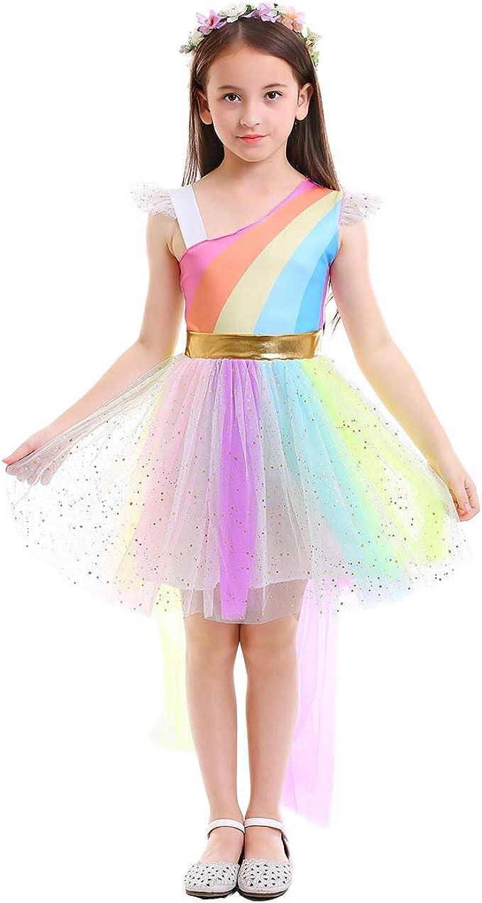 OBEEII Disfraz de Unicornio Niña Vestido Unicornio Princesa Tutú ...
