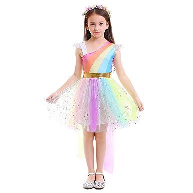 OBEEII Disfraz de Unicornio Niña Vestido Unicornio Princesa ...