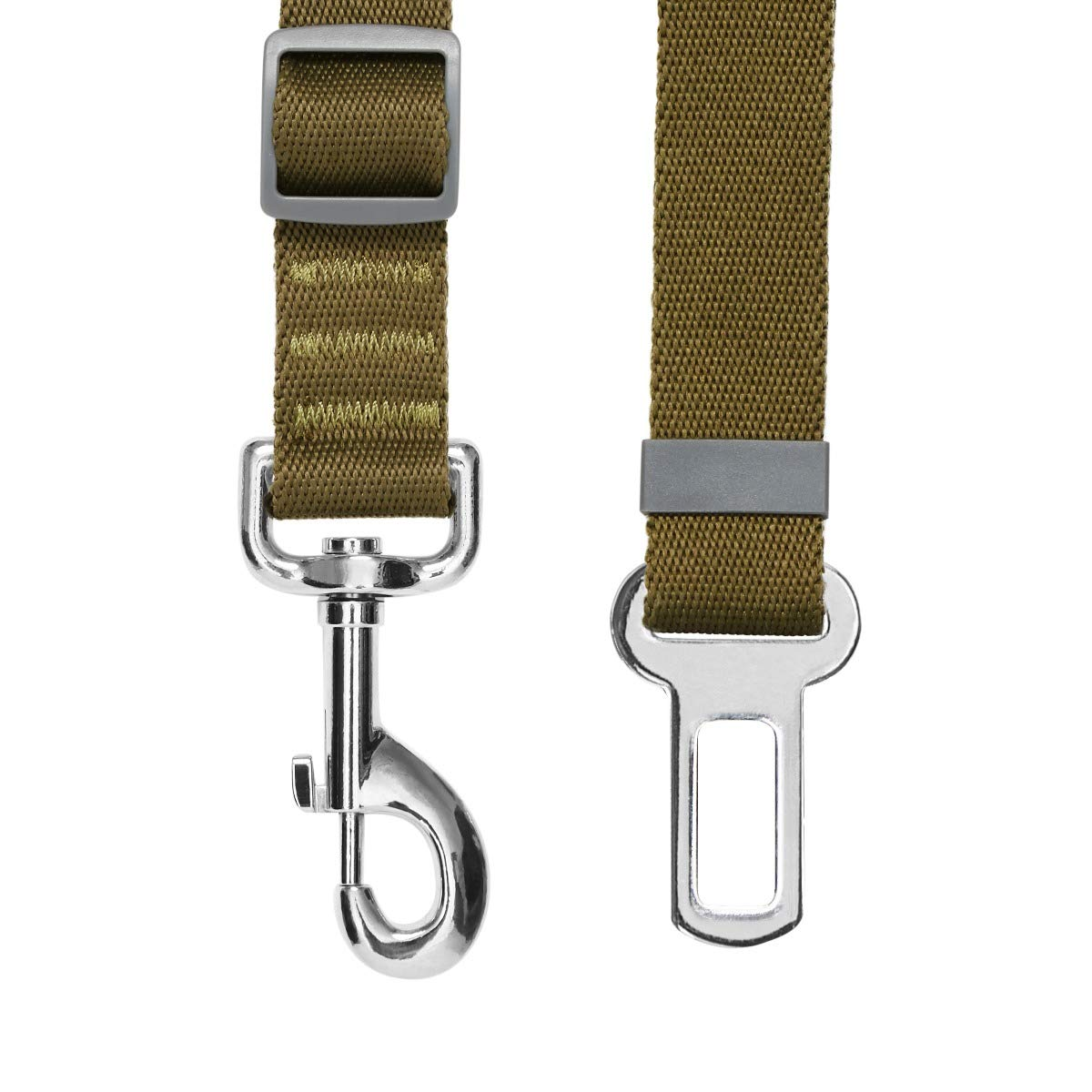 Essential Laisse de s/écurit/é r/églable Robuste pour Chien pour Voiture et /à Utiliser avec Un Harnais Olive UMI