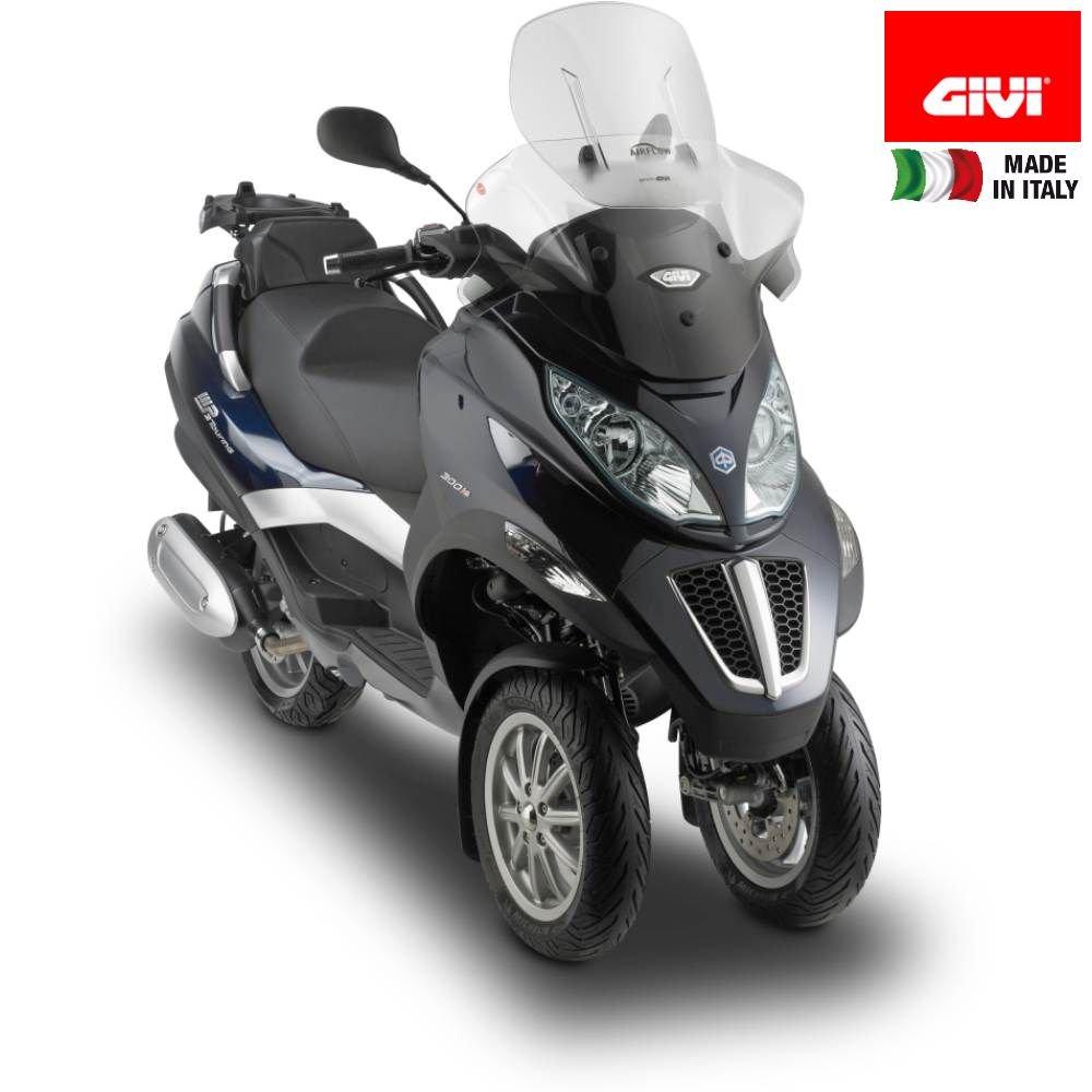 Tourenscheibe Givi Airflow Piaggio MP3 Business//Sport 500// Touring 300//400// LT 11-13 klar