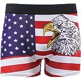 ALAZA Boxer Briefs Graphic Men Underwear Short Leg Polyester Spandex Small