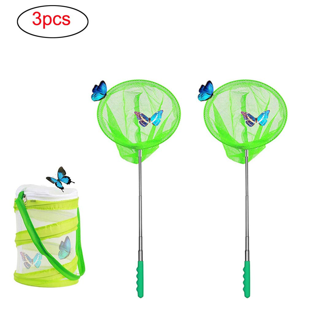 Extendable Childs Fishing Net From 38cm to 87cm GREEN HL411