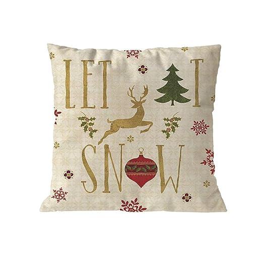 Theshy Buen Navidad Fundas cojín Suave Sofá cojín Home Decor ...