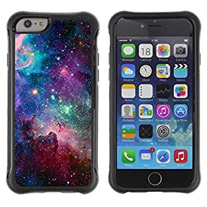 BullDog Case@ Sky Universe Stars Cosmos Nebula Teal Rugged Hybrid Armor Slim Protection Case Cover Shell For iphone 6 6S CASE Cover ,iphone 6 4.7 case,iphone 6 cover ,Cases for iphone 6S 4.7