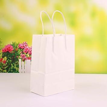 Amazon.com: Bolsas de papel Kraft con asas para regalos ...