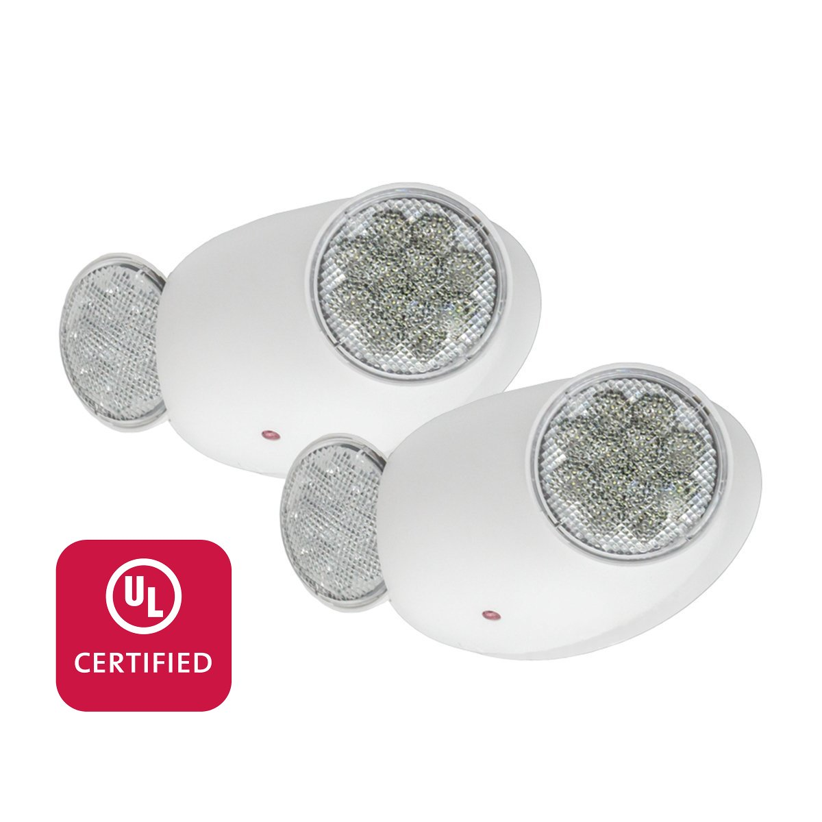 LFI Lights - 2 Pack - UL Certified - Hardwired LED Emergency Light - Compact - High Output - ELMW2x2