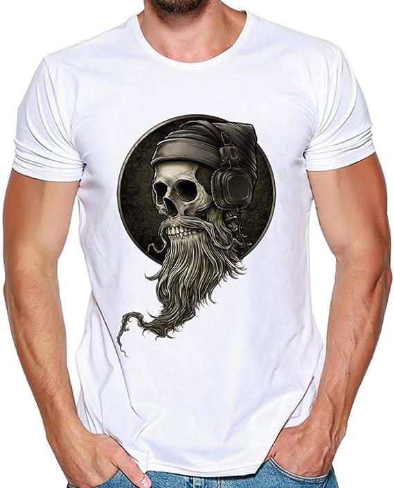 Hombres Que Imprimen la Blusa de la Camiseta de Manga Corta de la ...