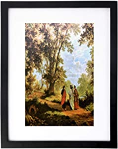 yyone Framed Paintings,Wall Decoration,Framed Paintings for Bedroom&Living Room,The Road to Emmaus,Home/Office Wall Art Decor Wooden Frames 13x17 Inches