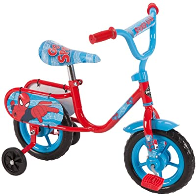 """10"""" Huffy Marvel Spider-Man Boys' Pedal Cycle Bike with Training Wheels: Sports & Outdoors"""