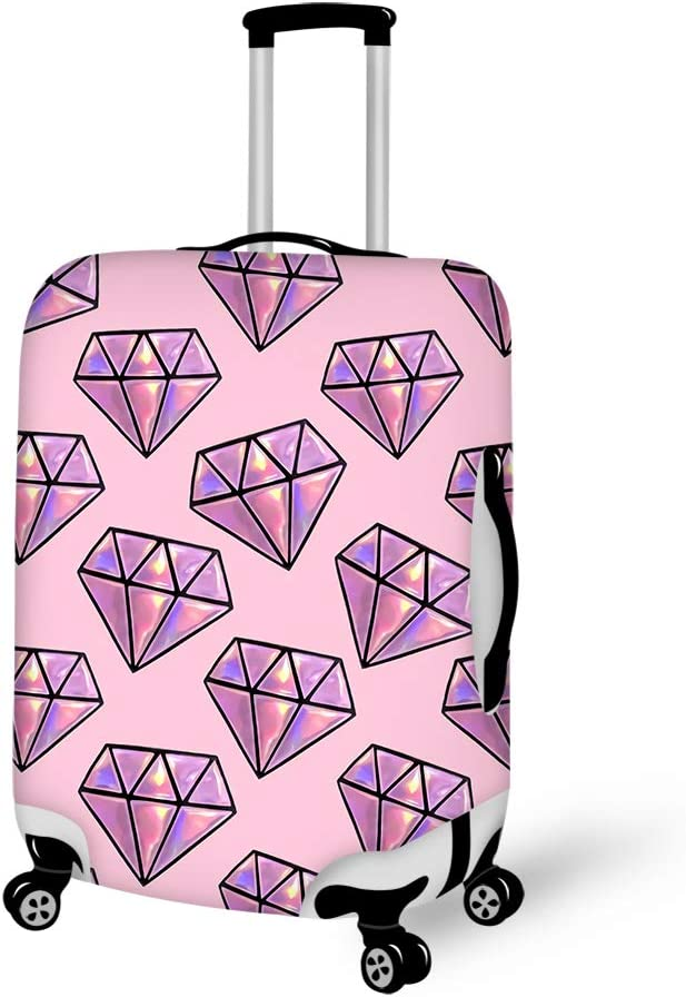 Diamond Pattern Washable Foldable Luggage Cover Protector Fits 18-21Inch Suitcase Covers