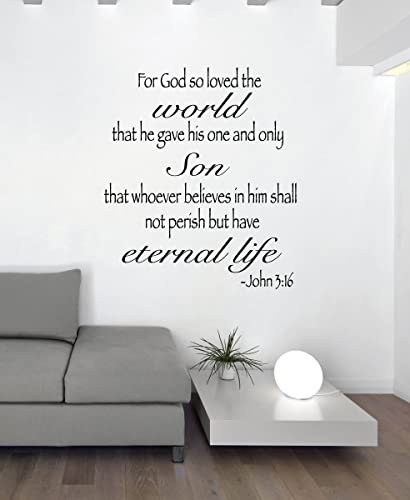 Amazon.com: Bible Verse Wall Decor - For God So Loved The World ...