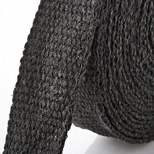 15m Keramik Hitzeschutzband schwarz Breite: 50mm L/änge: 250mm + 10 V2A Kabelbinder