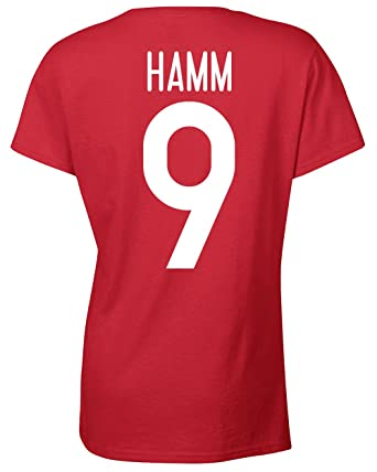 best loved 2cf7e f3519 Amazon.com: Jacted Up Tees Mia Hamm USA Soccer Front & Back ...