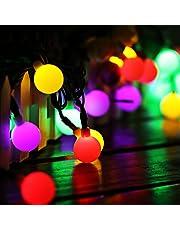 Luce Stringa Solare 60 Palla LED, Catene Luminose 10 M Impermeabile IP65 di Led Luci Stringa con 8 Modalità,  per Intern/Esterno, Feste, Giardino, Natale, Matrimonio, Albero di Natale, Terrazzo