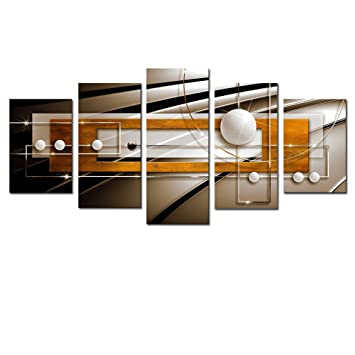 Amazon.com: AWLXPHY Decor Framed Abstract Canvas Wall Art Red Orange ...