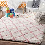 nuLOOM Soft and Plush Diamond Shag Area Rugs, 8' x 10', Baby Pink