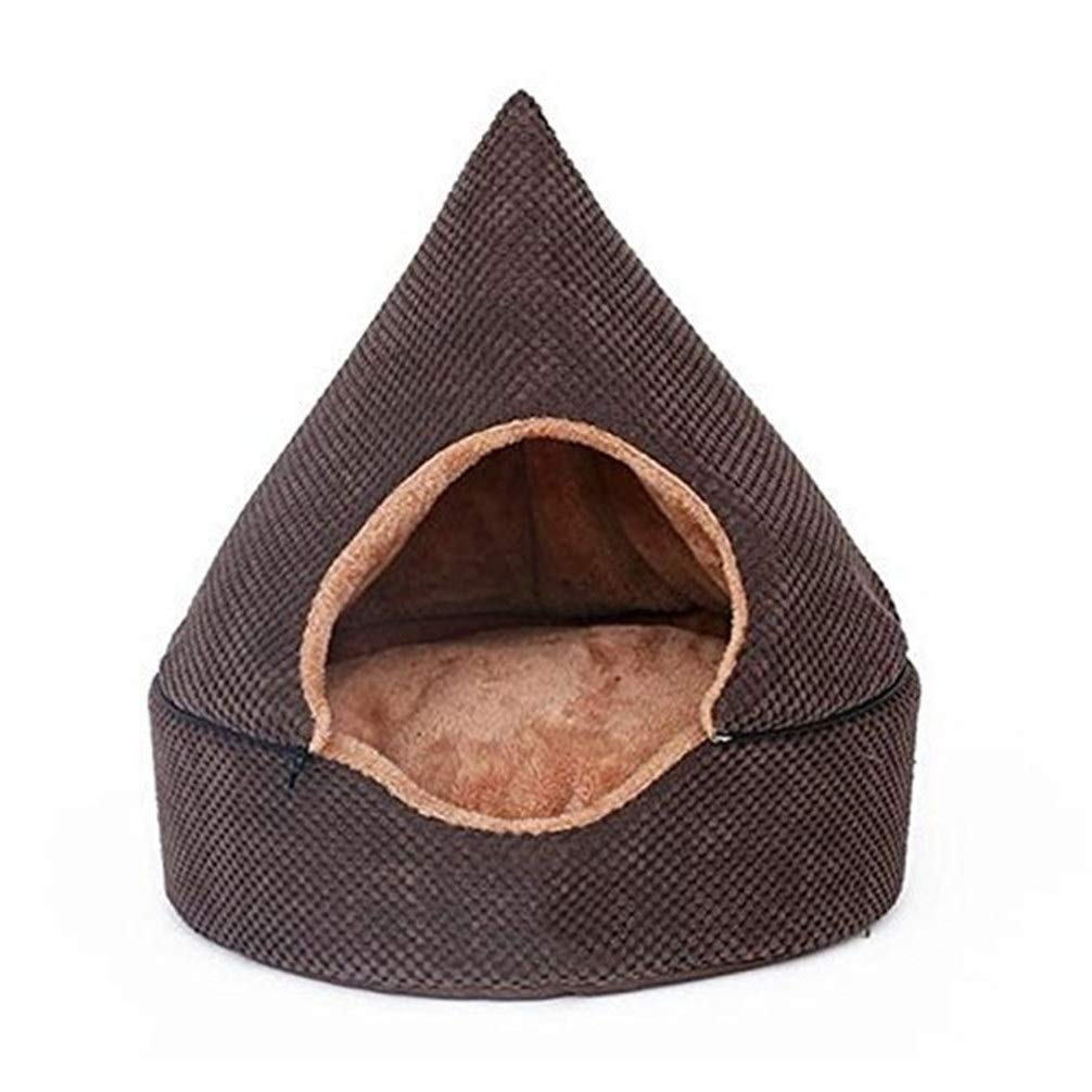 Chunchun Doghouse Warm Plush Washable Removable Yurt Small Dog Cat Cat Litter Closed Pet Dog Supplies (Size : S) by Chunchun