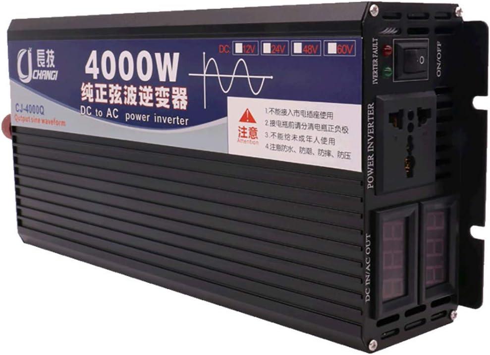 Power Voltage Transformer,with Battery Cable,Multiple Protection,24V-220V-2000W LNLN Pure Sine Wave Inverter,12V//24V//48V//60V//72V to 110V//220V