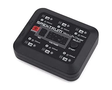 Digital LED Display Independent Output Ports Spektrum S63 Smart Charger: Micro 6-Port 1S LiPo Battery Charger DC or USB Input