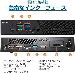 ASUS デスクトップミニパソコン (Core i5-8400T/4GB/HDD 1TB/Windows 10 Pro)【日本正規代理店品】 PB60-B5372ZD
