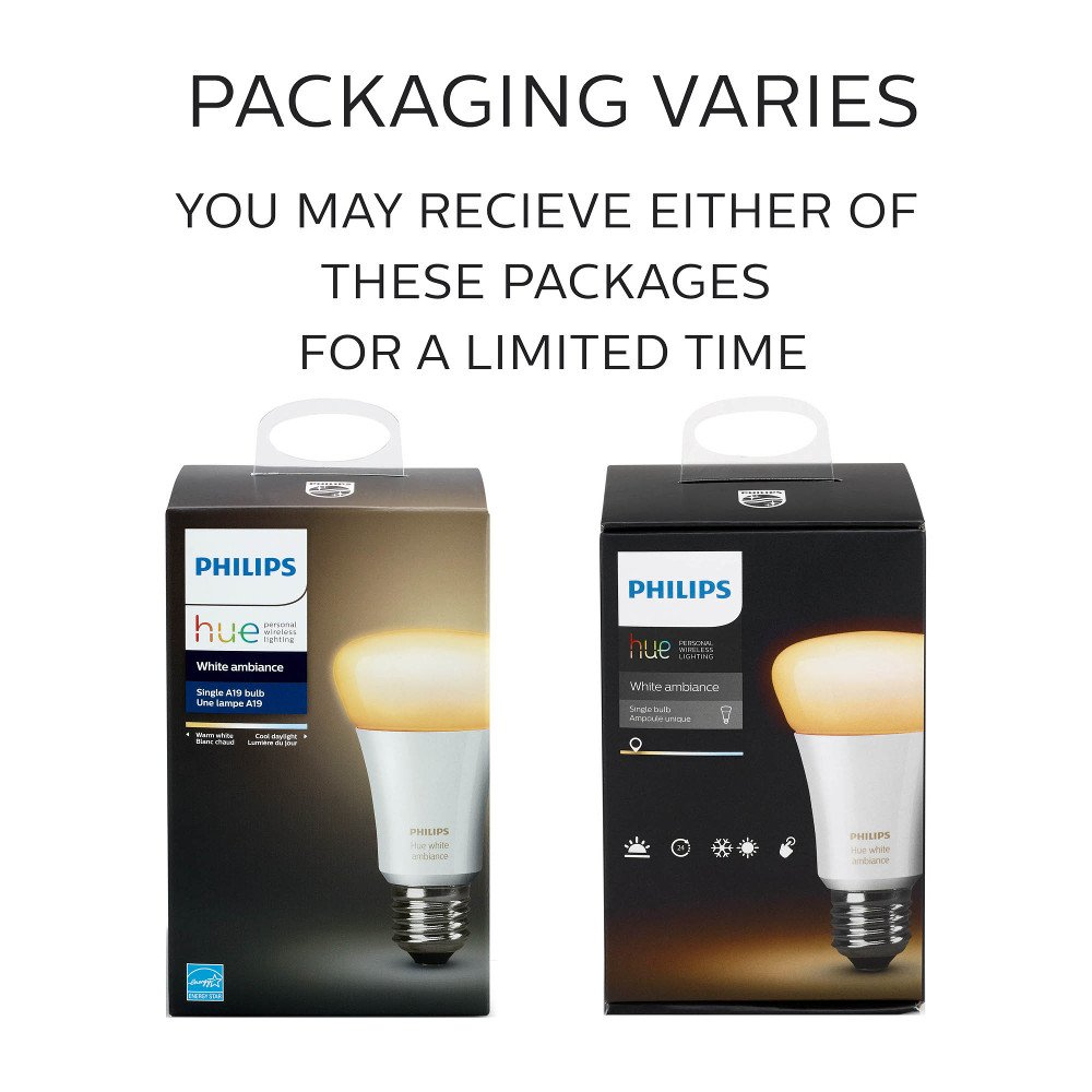 Philips Hue White Ambiance A19 10w Equivalent Dimmable Led Smart Cheap Emergency Lights Using D313 Bulb Works With Alexa Apple Homekit And Google Assistant