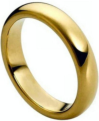 O /& Q Chapado en Plata 925 sólido anillo de compromiso de boda con banda Liso Unisex Tallas K