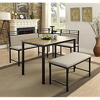 Amazon Com Essential Home Emily Breakfast Nook Kitchen