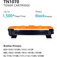 TN1070 Compatible for Brother TN-1070 Toner Cartridge High Yield Work on DCP-1510 HL-1110 HL-1210W MFC-1810 Printers …