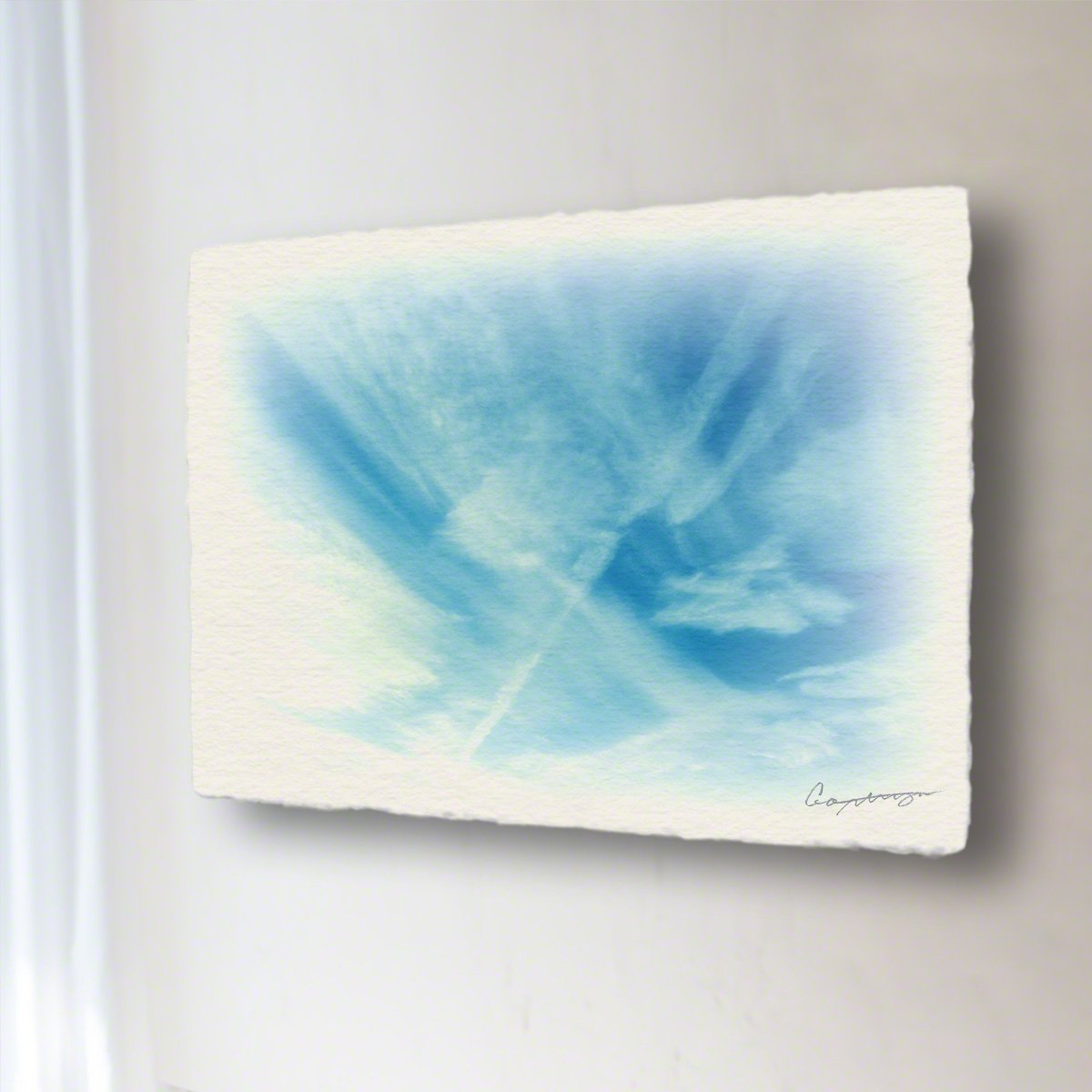 和紙 アートパネル「筋雲と飛行機雲」 (40x30cm) 絵 絵画 壁掛け 壁飾り インテリア アート B074XKQ6P8 14.アートパネル(長辺45cm) 18800円|筋雲と飛行機雲 筋雲と飛行機雲 14.アートパネル(長辺45cm) 18800円
