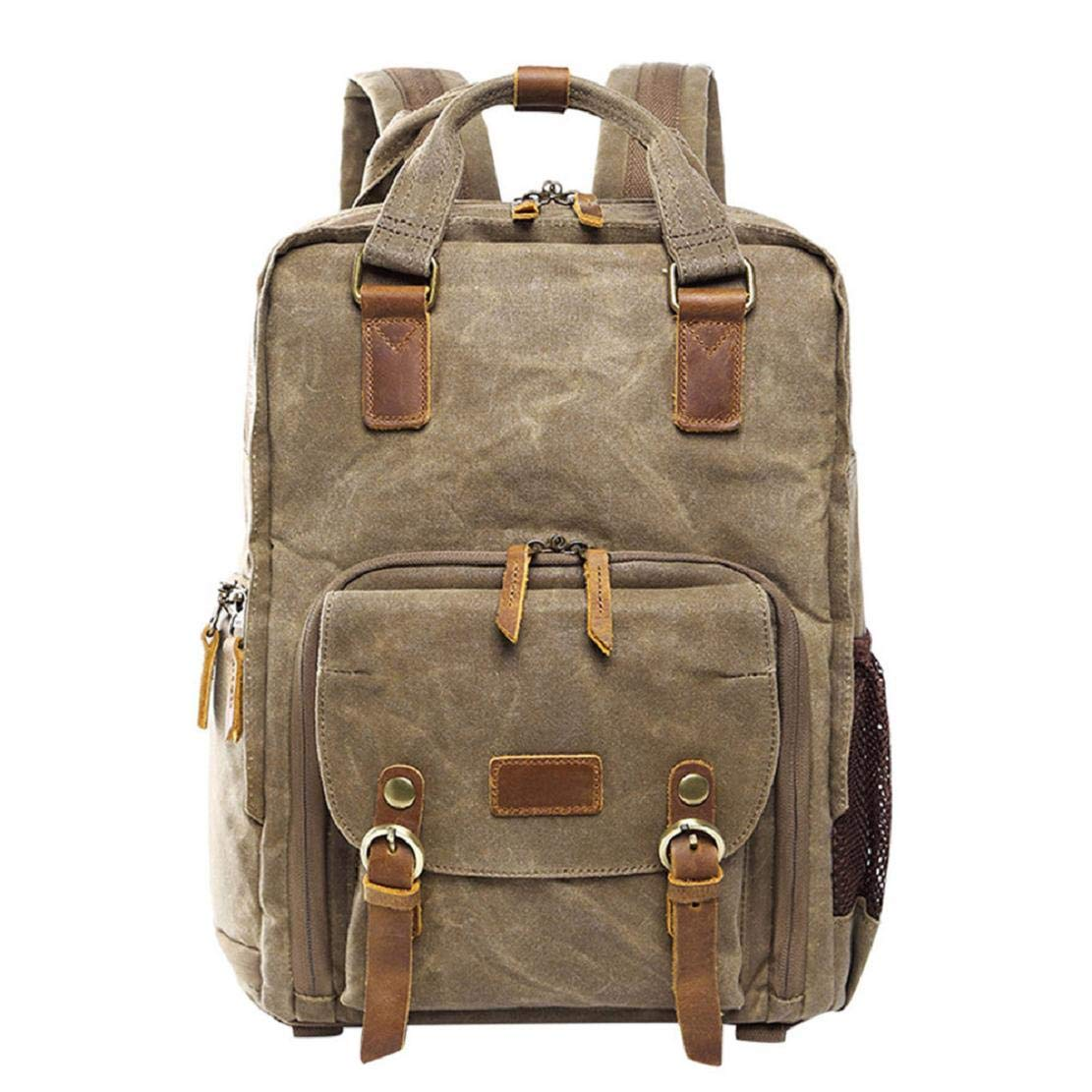 Photography Lens Camera Backpack Waterproof Canvas Bag Laptop and Accessories for Outdoor Travel Hiking by Lowprofile