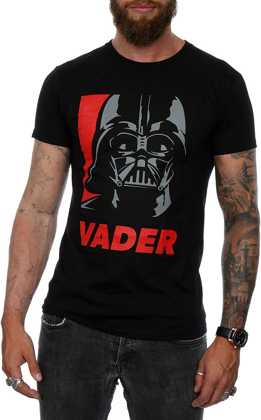 Darkside Biker Mens PRINTED T-SHIRT Star Wars Force Be With You Text Vader Funny