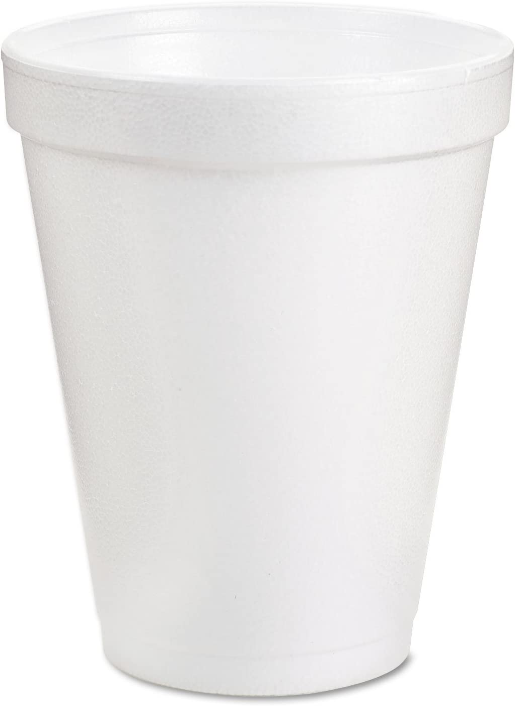DART 8J8 Insulated Styrofoam Cup, 8 Oz, 1000/CT, White, 8 Ounce