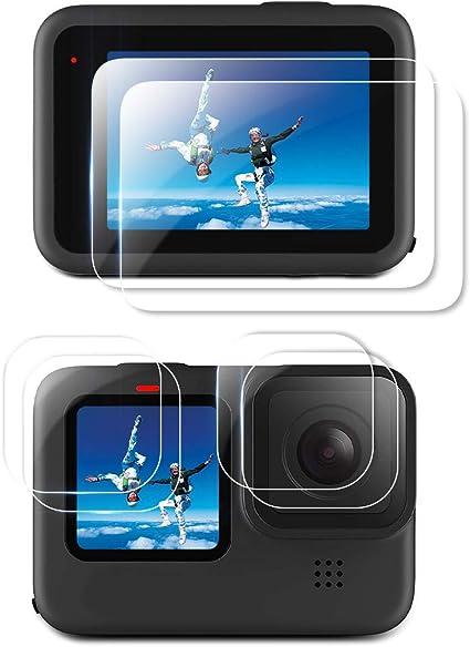 HD Kleinem Display Schutz Zubeh/ör f/ür Hero 9 Black Action Kamera Hartglas Objektivschutzfolie 6 St/ück 9H Panzerglas Displayschutzfolie Aerku Displayschutzfolie Kompatibel mit GoPro Hero 9 Black