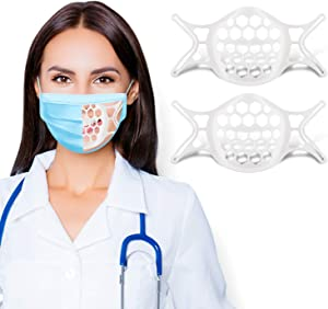 3D Mask Insert for Easier Breathing Room Silicone Mask Brace Mask Frame Brackets, labato Cool Mask Inserts Turtle Mask Spacer Mask Guard Breathe Cup, Mask Cage Shield Mask Lipstick Protector, 2PCS