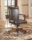 Hamrown Medium Brown Luxurious Home Office Swivel Desk Chair
