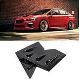 YUZHONGTIAN 2015-2020 for Subaru WRX STi Window Scoop Louvers Cover ABS 2PCS (Carbon Fiber Style)