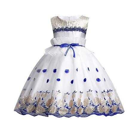 Muchachas de los niños lentejuelas princesa de la flor del desfile de la boda de la
