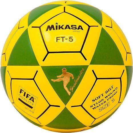Mikasa FT5 Goal Master - Balón de fútbol, Color Verde y Amarillo ...