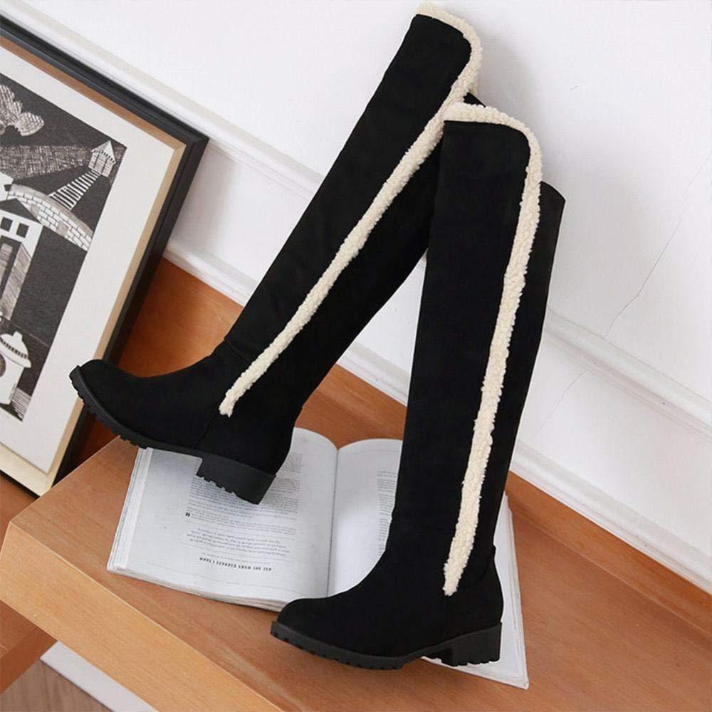 ZHRUI Stivali da Donna - Stivali Stivali Stivali Antiscivolo Caldi Antiscivolo Scarpe in Cotone Sandali con Tacco Basso in Velluto Spesso con Stivali 34-43 (colore   Nero, Dimensione   42) 62f4f0