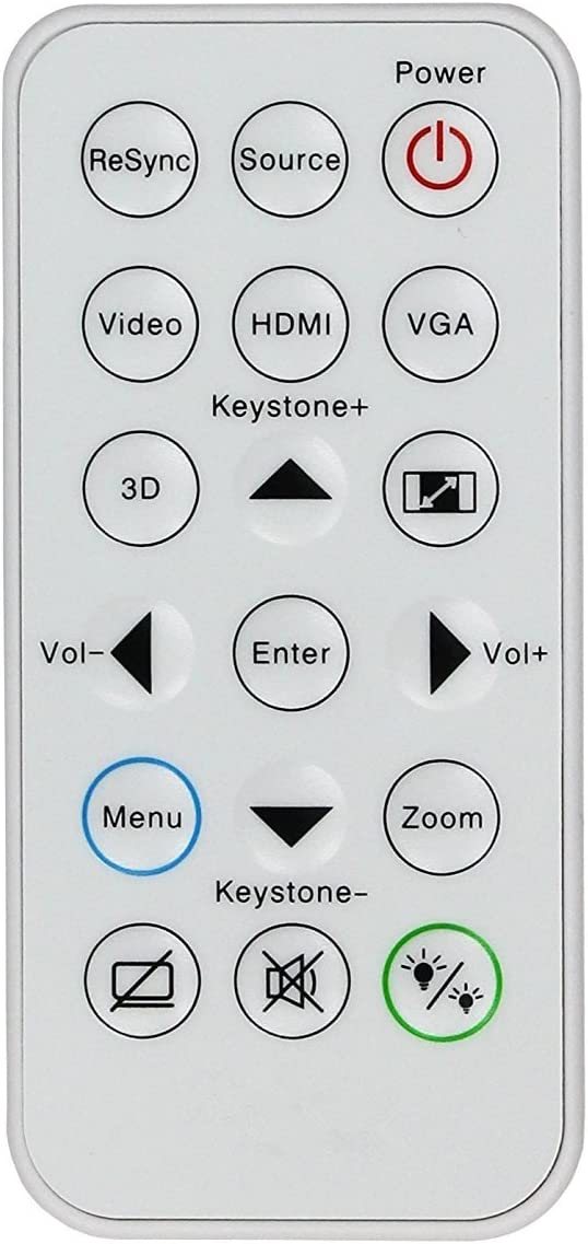 Rlsales Replacement Remote Control Fit for Optoma DS340 S311 W304M EH341 IR29033 X316 BR323 BR326 X315