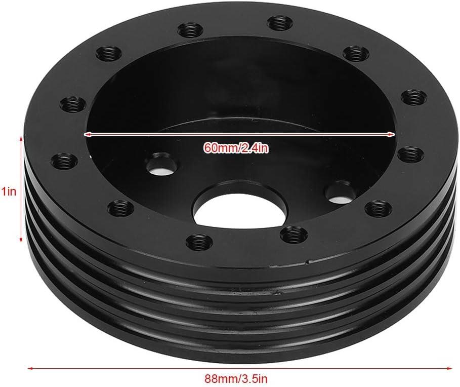 EBTOOLS Set di distanziali Nero accessori per distanziali mozzo volante in lega di alluminio da 1 pollici per 5 ruote da 6 fori con adattatore a 3 fori